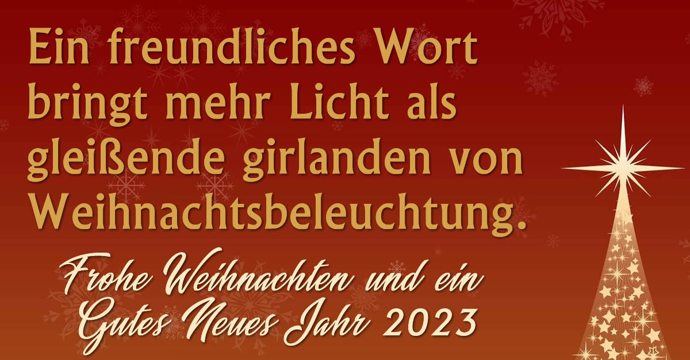 Frohe Feiertage 2021!